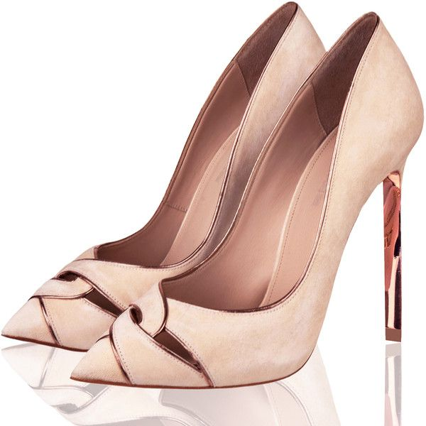 Twist Treccia Pump Nude ($235) ❤ liked on Polyvore featuring shoes, pumps, nude footwear, twisted shoes, nude shoes, nude pumps and nude court shoes