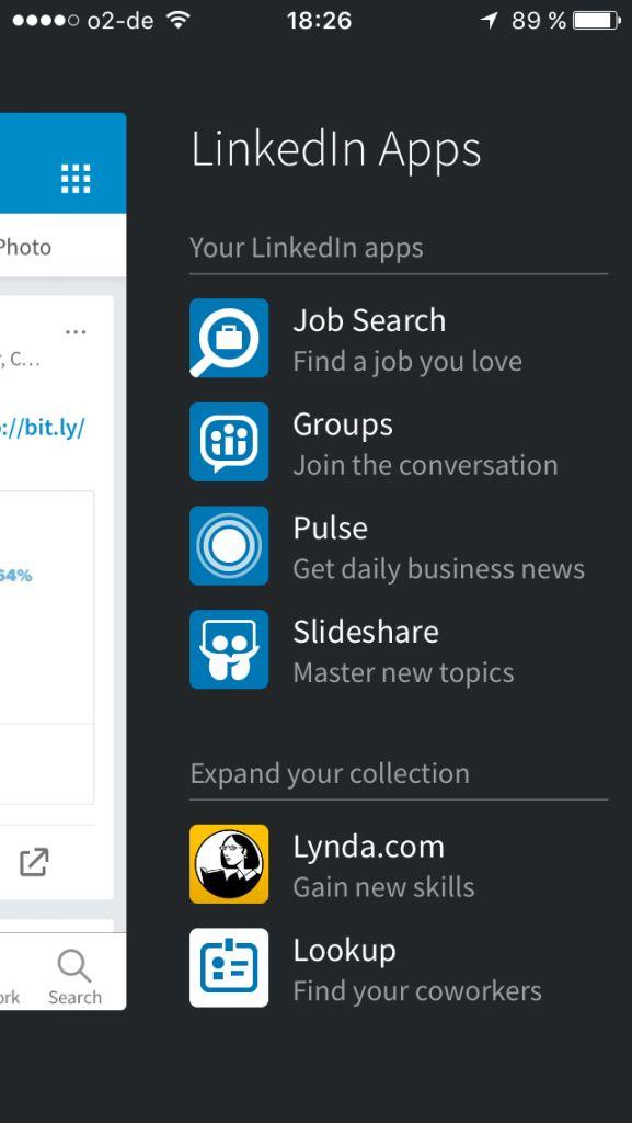 Linkedin App jetzt einfacher & schlanker & mit stickern & emoticons & ...