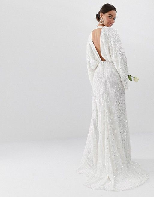 f6b00287a857 EDITION sequin kimono sleeve wedding dress in 2019 | My Style ...