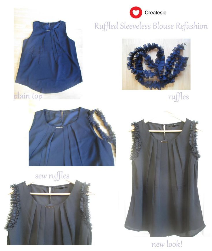 Clothes Refashion : DIY Blouse Makeover with Ruffles - Clothes Refashion Tutorial