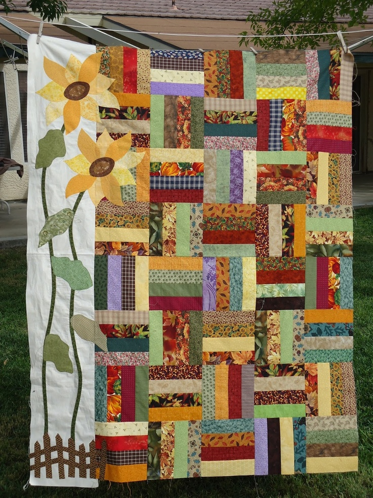 268 best Quilts - sunflower images on Pinterest | Sunflower quilts ...