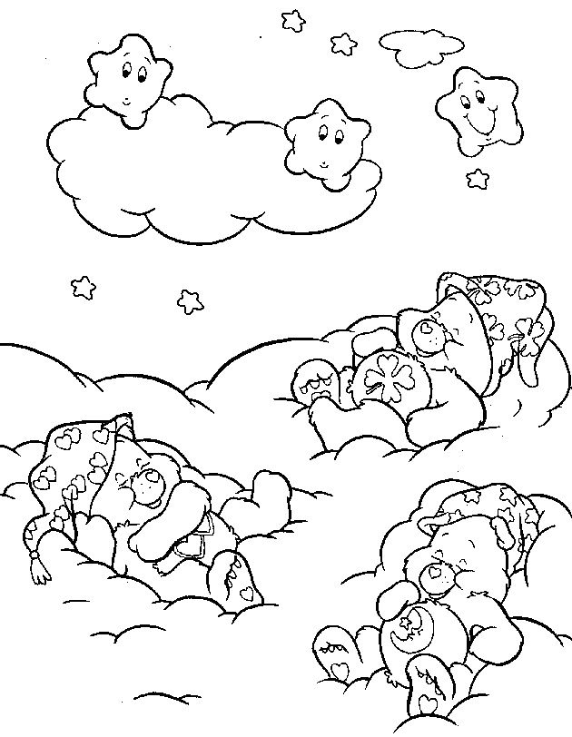 Bear Coloring Pages Care Bears Kidsdrawing Free