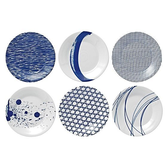 For impressive coastal-inspired pattern to impart contemporary style upon your dining, opt for the Pacific Plate, 16cm (Set of 6) from Royal Doulton.