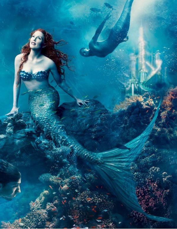 Celebs as Disney Characters - Julianne Moore as Arial