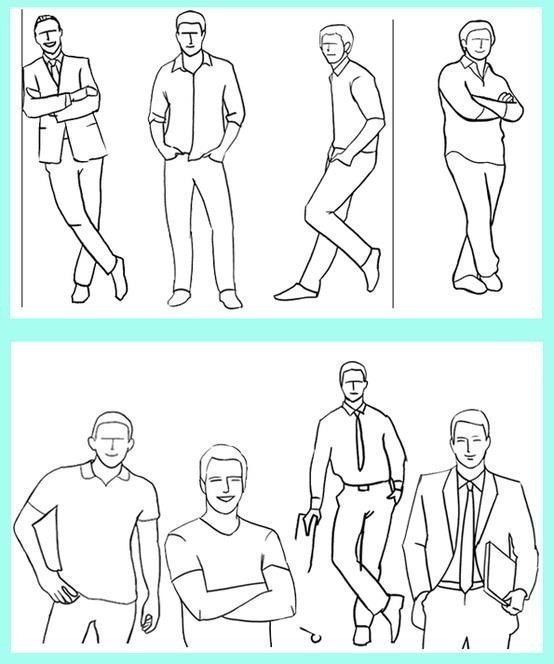 Основные позы для мужчин при фотографировании