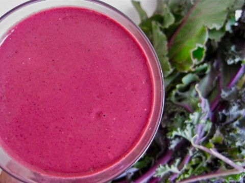Vitamix Recipes. This Brilliantly Beet Green Smoothie from Ricki Heller at Diet, Dessert and Dogs is full of protein, healthy goodness, and tastes BLENDSATIONAL! I love love love this smoothie!