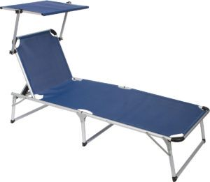 Folding Beach Lounge Chair With Canopy