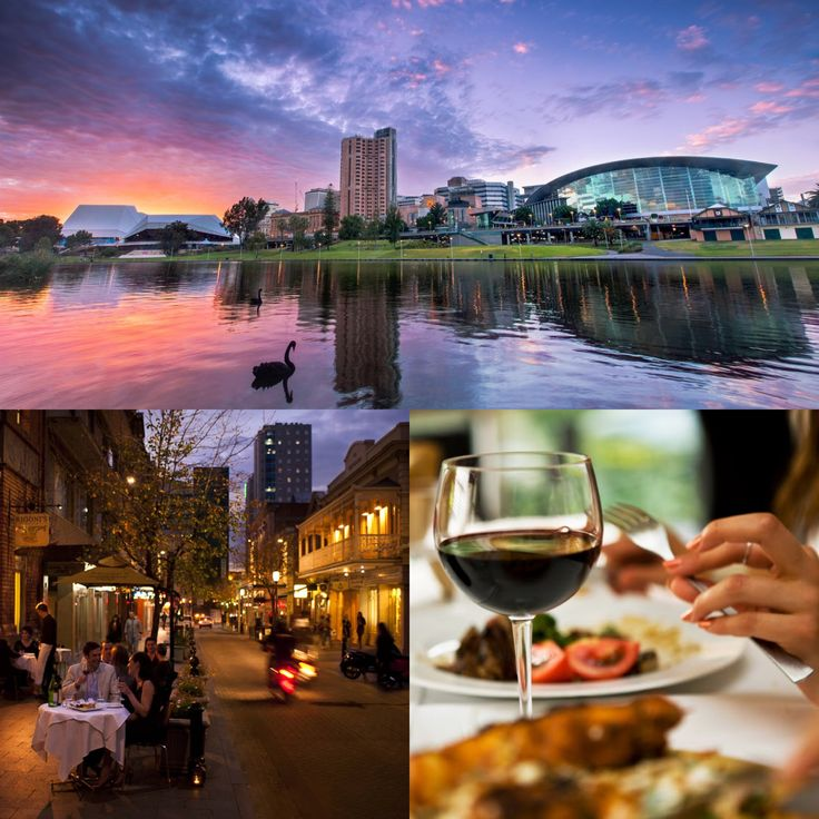 No. 7 on Australia's Must-Do Travel Destinations for 2015 = Adelaide! Beautiful city, great small bar scene, trendy cafes, wine country, historic buildings, rolling hills & beaches... sounds like the perfect party doesn't it?  Click for hot hotel deals!