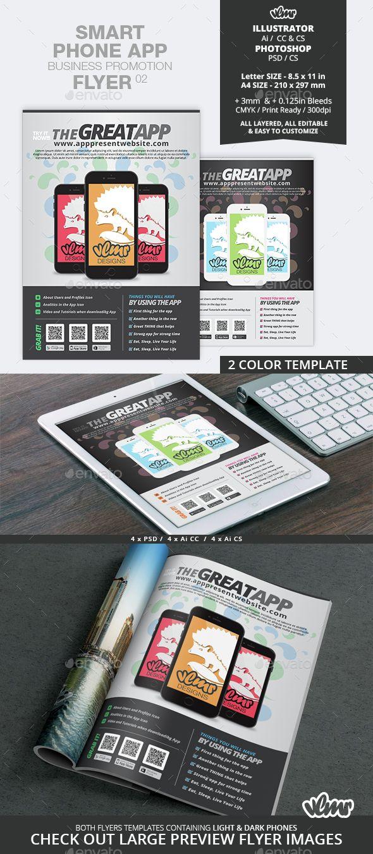 Poster design app android - Smart Phone App Business Promotion Flyer 02
