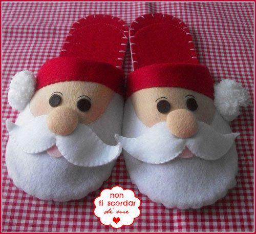 Pantofole Santa Claus, by Non ti scordar di me ♥, 18,00 € su misshobby.com