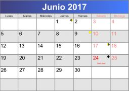 calendario-junio-2017.png | calendario | Pinterest