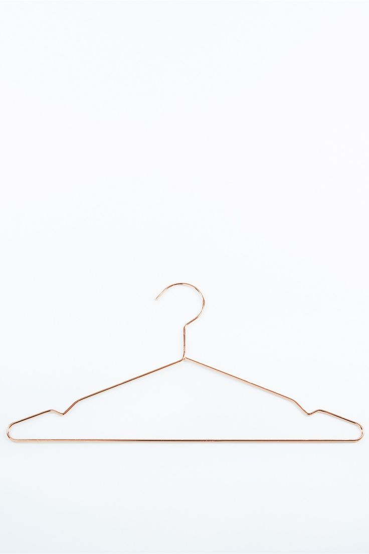 Modernist Copper Wire Clothes Hanger