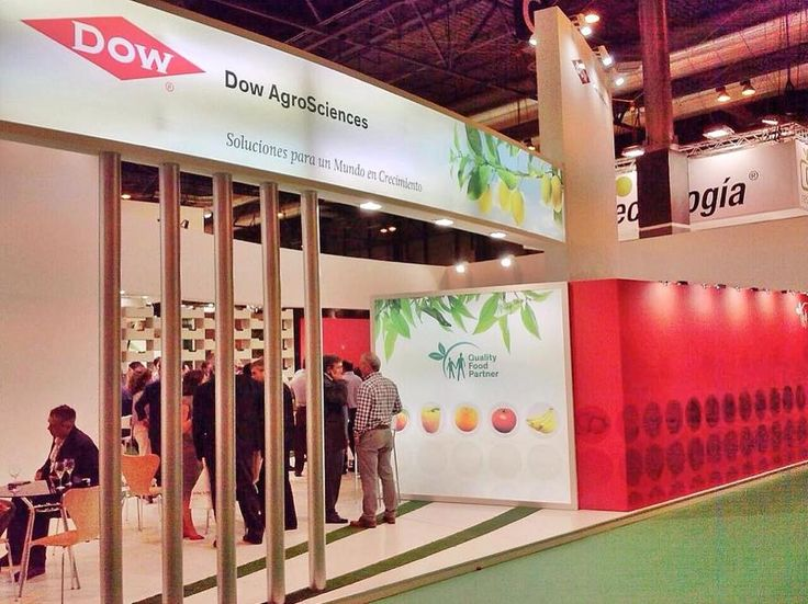Decoración del stand de Dow AgroSciences en Fruit Attraction 2014.