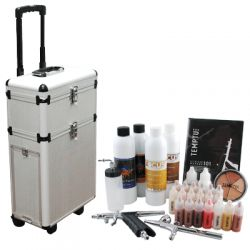 Spray tan kit for mobile tanning business.