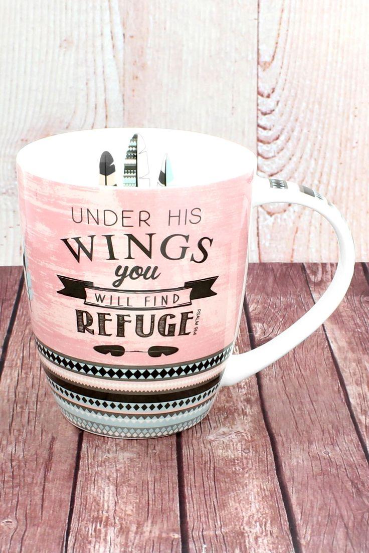 Psalm 91:4 Southwestern Mug #MUG406