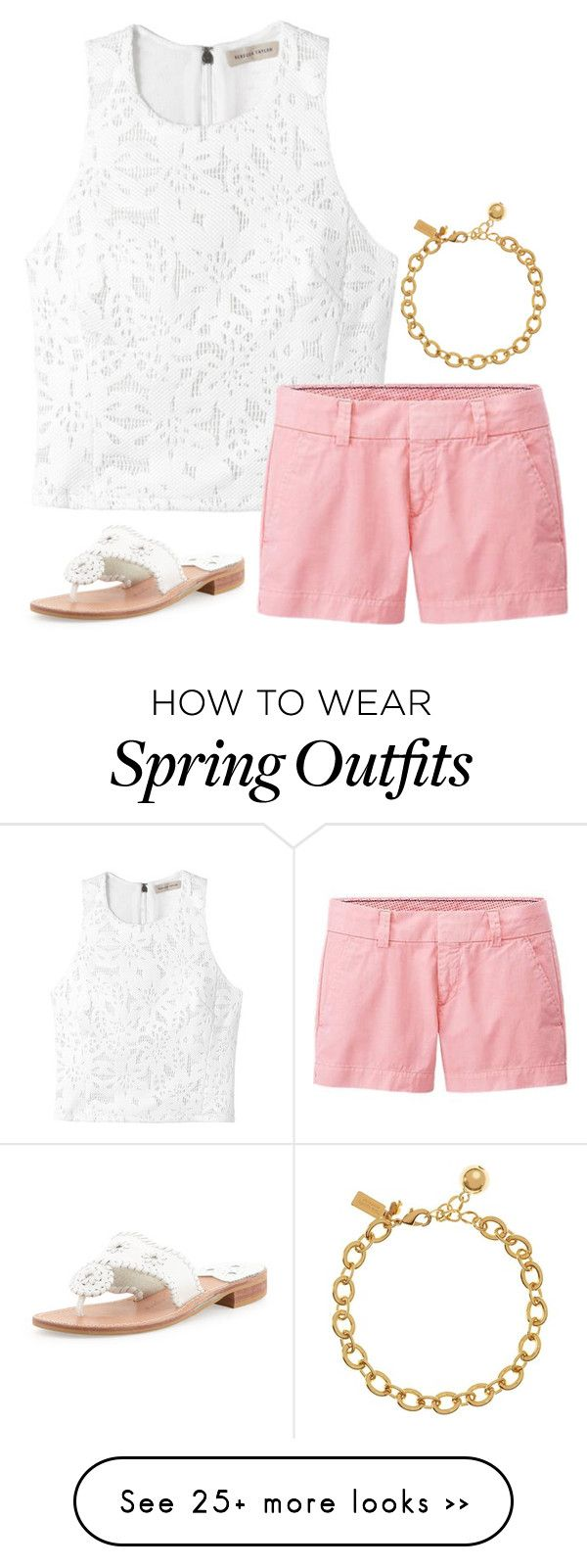 """""""spring/summer outfit"""" by sassy-and-southern on Polyvore featuring Rebecca Taylor, Uniqlo, Kate Spade and Jack Rogers"""