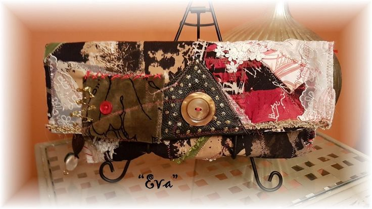 "Hand Made BoHo Bohemian Handbag Original Signed Numbered FAB*BOHO ""EVA` #008 #FABBOHO #Clutch"