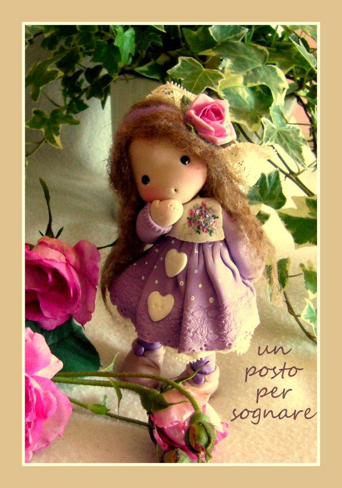 bamboline pasta mais,bamboline porcellana fredda,dolls,