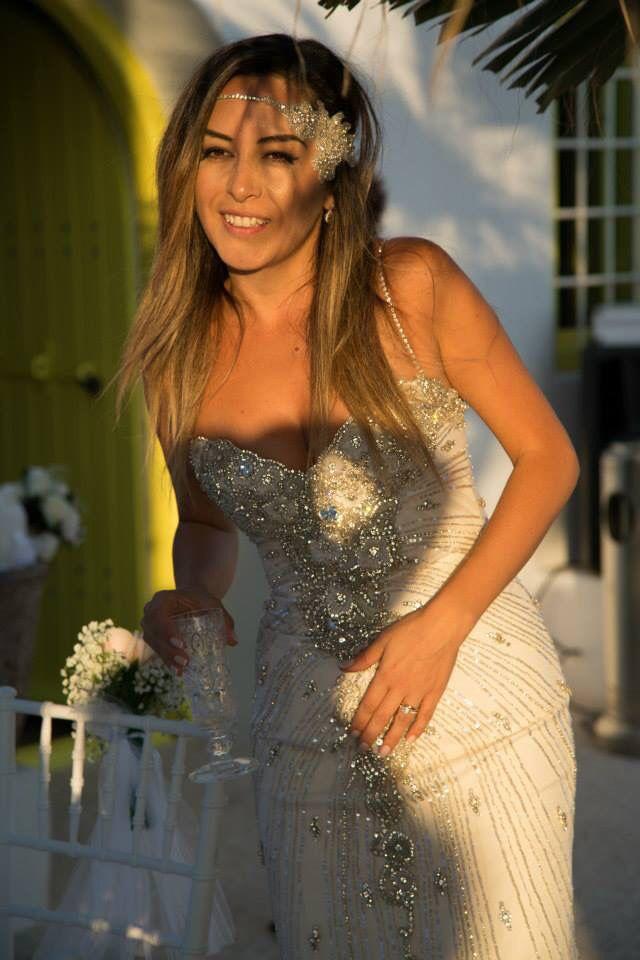 Bride,santorini