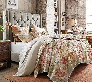 Carolina Floral Patchwork Reversible Quilt & Sham #potterybarn