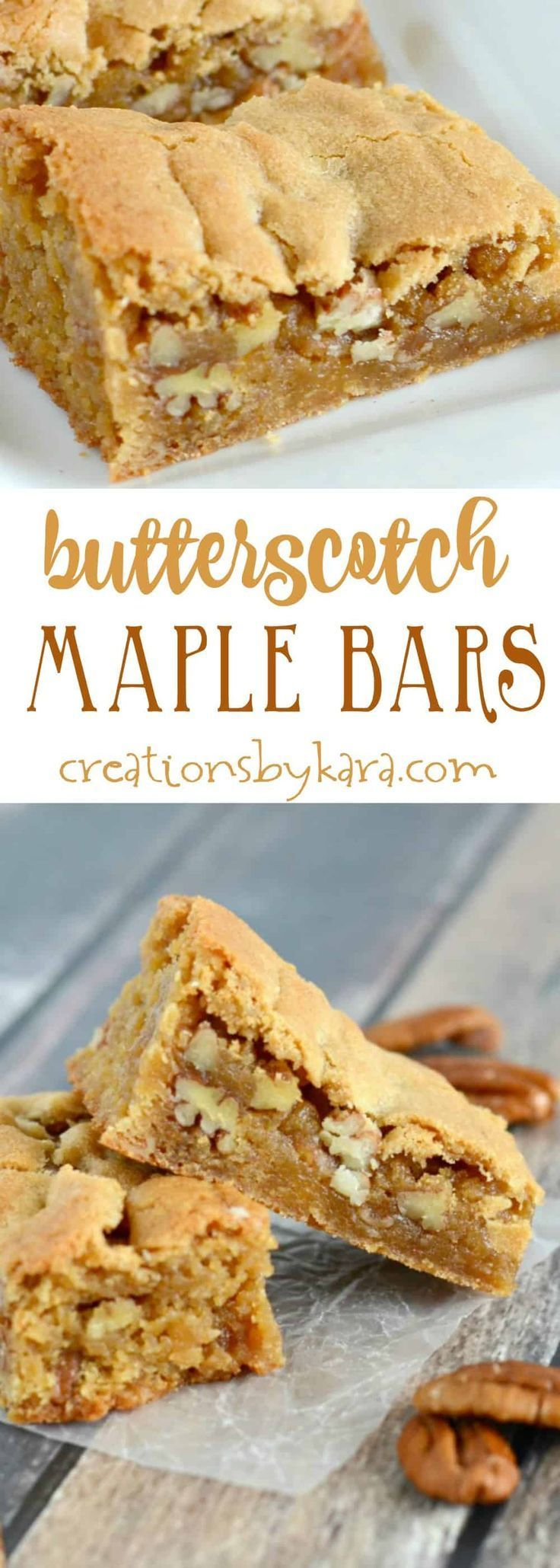 Give these rich and chewy Butterscotch Bars a try. They are a delicious bar cookie recipe! #butterscotch #barcookies