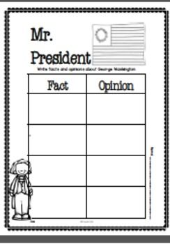 """WASHINGTON AND LINCOLN FACTS CENTER BUNDLE - Students will learn facts about George Washington and Abraham Lincoln when they match the fact card to the picture answer. It can also be used as a memory game. There are 2 recording pages for each set and an interactive printable for each included. The answer key is included so this can be a self-checking center. """"It's a Fact Center """" includes: --24 facts and picture cards --2 recording sheets --1 interactive journal printable --Answer key $"""