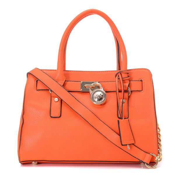 Michael Kors Smooth Outlook Small Orange Totes Outlet