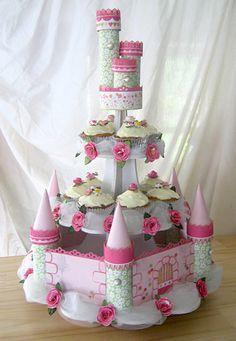 Cupcake castle display