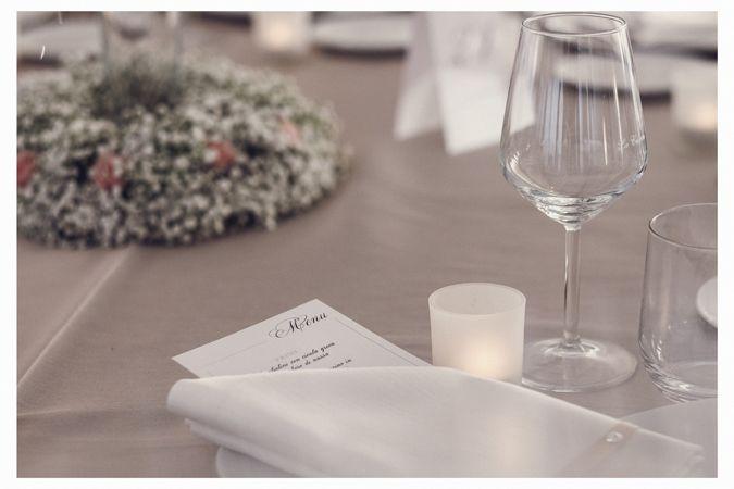 menu elegant wedding