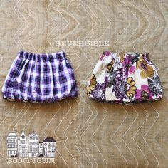 Flannel - Floral bubble skirt