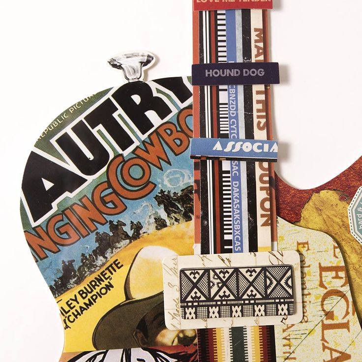 Obraz przestrzenny Guitar C 104-9053 - Evolution Home