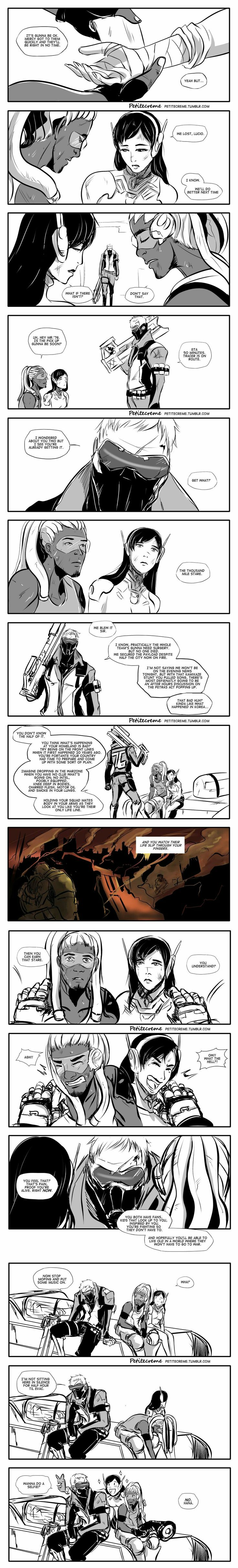 Such a caring and supportive father. Everytime I read Overwatch comics, I can hear their voices in my mind and it makes it all the more magical :D
