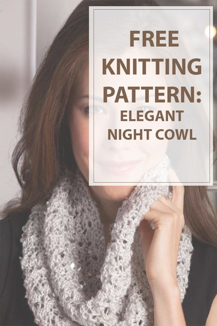This free knitting pattern is easy to complete even for the newbies plus is very easy to remember the full process knitting this elegant cowl. You can give it a special touch by adding a little of glam. #knitting #knit #hobbies | Housewiveshobbies.com
