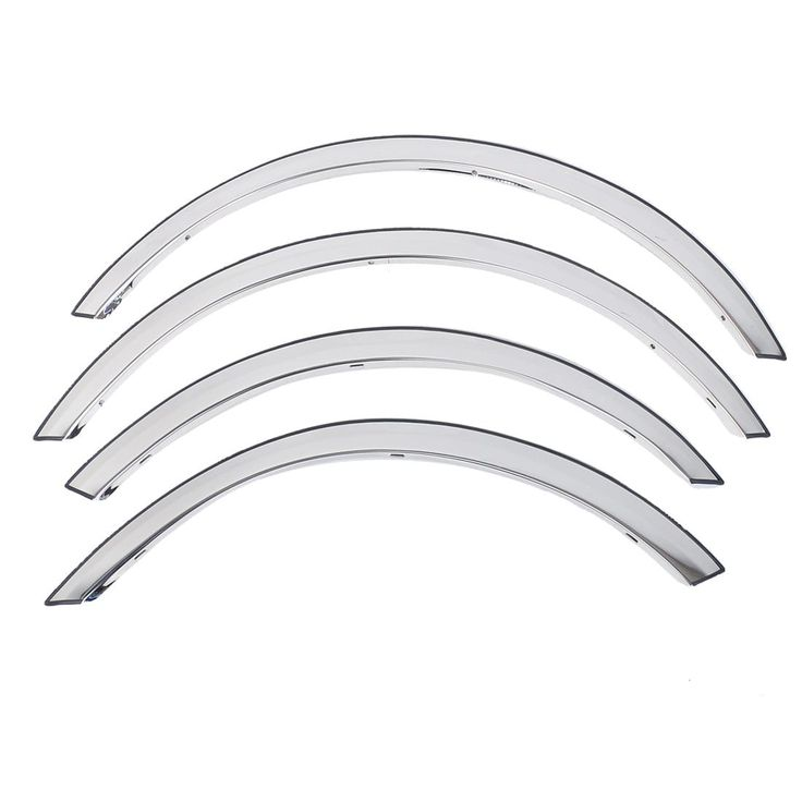 "Unique Bargains 4 Pcs Vehicle Decor Wheel Eyebrow Trim Strip 26"" 22"" Long for 2009 Ford Carnival, Silver stainless steel"