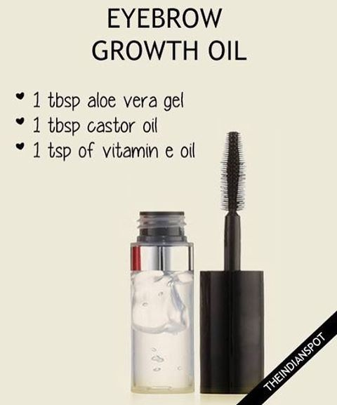 Follow theindianspotcom  Try this homemade serum to grow out thin or over-plucked eyebrows - #serum…