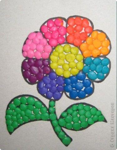 Ня картинки - мозаика из пластилина осень - Няшки
