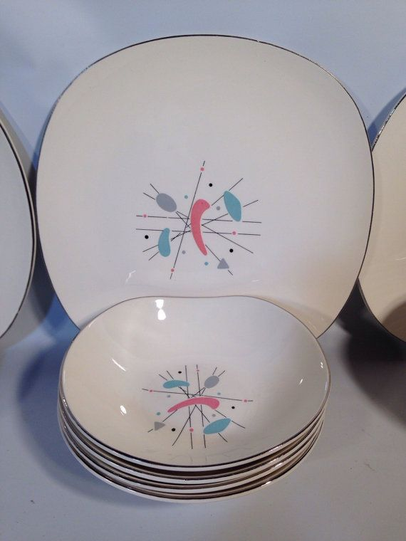 Knowles K 5069 Mobile Plates Bowls Plate Bowl 1950 S Mid