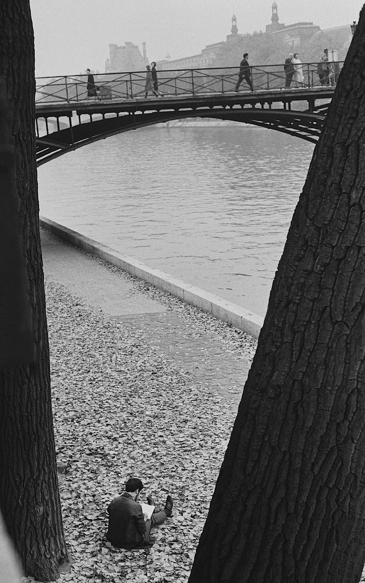 Title page photograph samuel h gottscho s from river house cloud - Just Reading Photograph By Andr Kert Sz Pont Des Arts Paris 1963