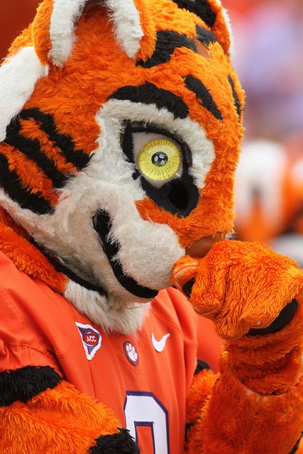 Sep 17, 2011; Clemson, SC, USA; Clemson Tigers mascot during the first quarter against the Auburn Tigers at Memorial Stadium. Clemson won 38 to 24. Mandatory Credit: Joshua S. Kelly-US PRESSWIRE