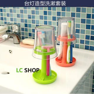 Buy 'Lazy Corner – Toothbrush Holder Cup Set' with Free International Shipping at YesStyle.com. Browse and shop for thousands of Asian fashion items from China and more!