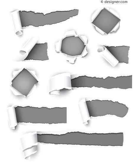 Torn paper effect background vector 04