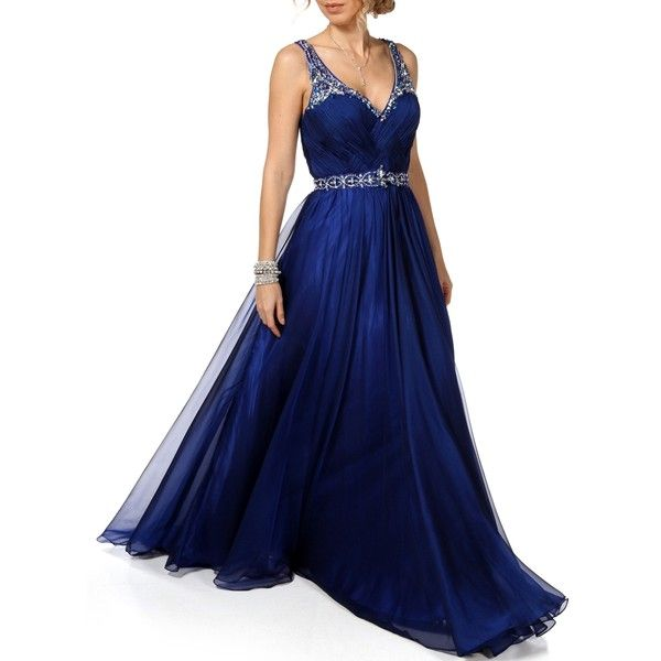 Aspeed Promo-Abrianna-Prom Dress ($149) ❤ liked on Polyvore featuring dresses, long dresses, royal, electric blue dress, long sparkly dress, royal blue prom dresses, blue sparkly dress and sparkly cocktail dresses
