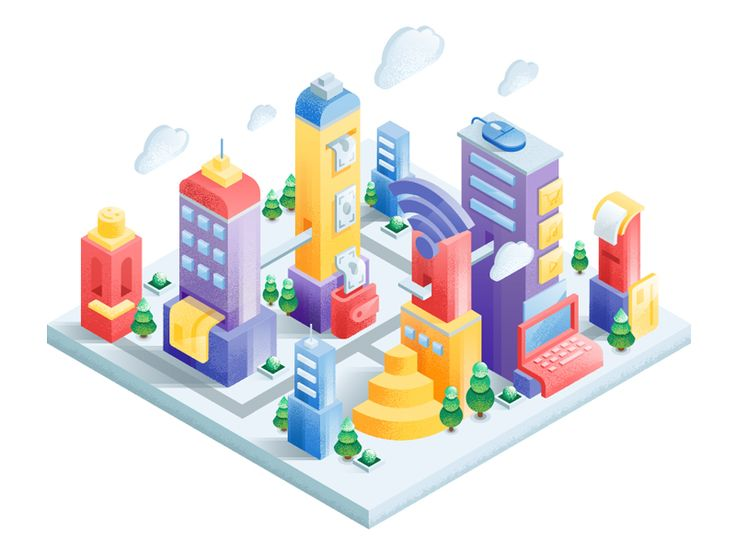 IT city  by Izyum Creative Group  #Design Popular #Dribbble #shots