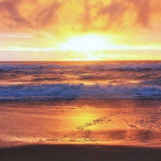 A fiery sunrise captured at Sunrise Beach.
