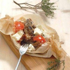 Αρνάκι στη λαδόκολλα με λαχανικά