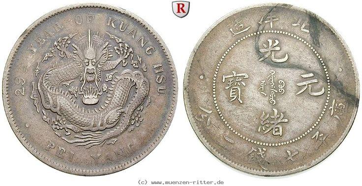 RITTER China, Chihli, Dollar 1903, 29th Year of Kuang Hsu, Pei Yang, Drache #coins