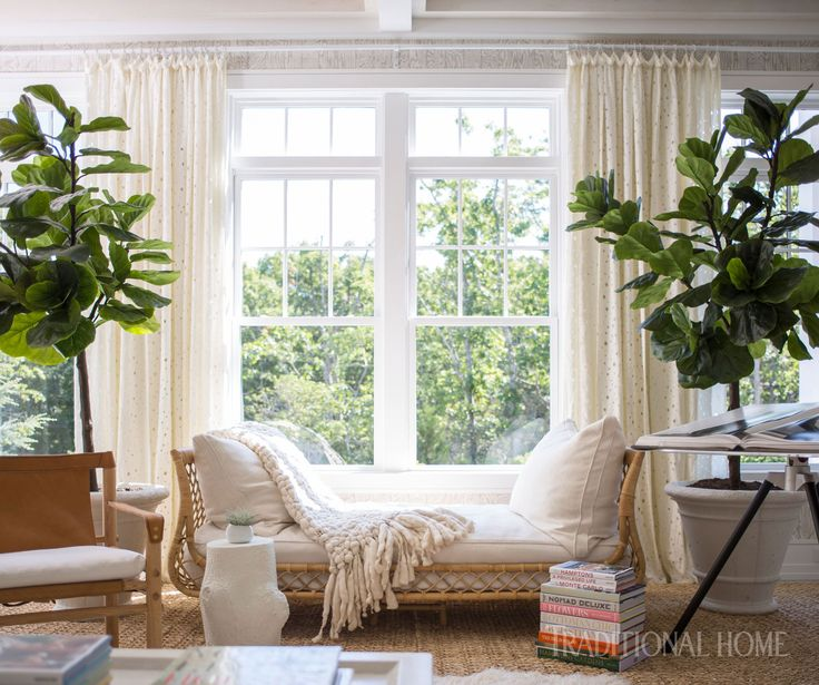Boho Style Living room, Bohemian Decorating, White Draperies, white daybed