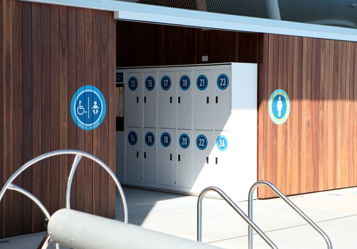 Prince Alfred park pool, surry hills, sydney  Signage by Frost* design Sydney