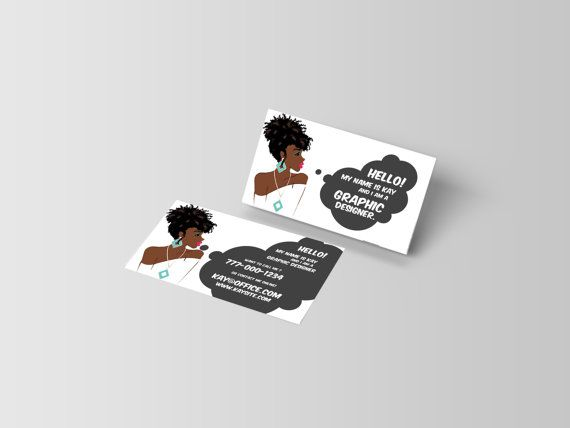 Custom Business Cards Black-African American-business by KMOMedia
