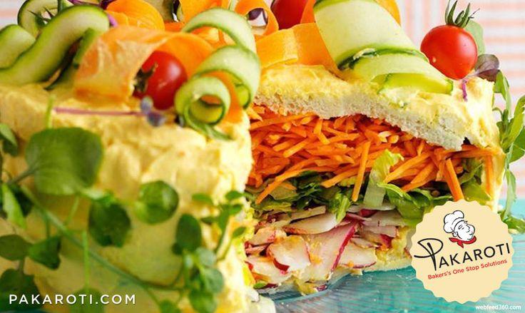 Terinspirasi dari keinginan makan sehat, salad cakes menawarkan pengalaman baru menyantap sajian menyerupai kue cantik dengan rasa segar dari sayuran. #BakeryProduct